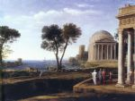 claude lorrain landscape with aeneas at delos painting 80146