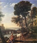 claude lorrain landscape with apollo guarding the herds of admetus painting 80147