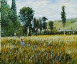 a meadow 1879 by claude monet painting