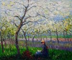 claude monet an orchard in spring ii painting