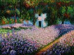 artist s garden at giverny ii by claude monet painting