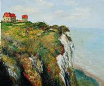 cliff at dieppe ii by claude monet painting