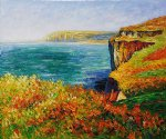 falaise a varengeville by claude monet painting