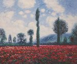 field of poppies ii by claude monet painting