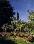 claude monet garden in flower at sainte adresse painting 79078