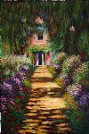 garden path at giverny iv by claude monet painting