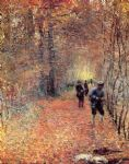 hunting by claude monet painting
