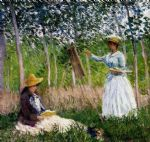 claude monet in the woods at giverny paintings