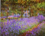 claude monet irises in monet s garden painting