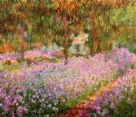 claude monet irises in monets garden paintings