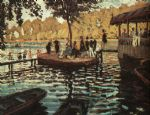 la grenouillere by claude monet painting