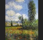 claude monet lane in the poppy fields painting