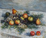pears and grapes by claude monet painting