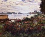riverbank at argenteuil by claude monet painting