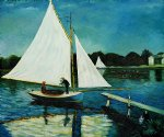 claude monet sailing at argenteuil ii painting