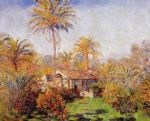 small country farm in bordighera by claude monet painting