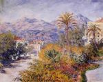 claude monet strada romana in bordighera painting