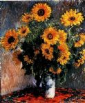 claude monet sunflowers painting