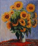 sunflowers by claude monet painting