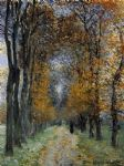 the avenue by claude monet painting