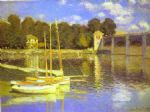 the bridge at argenteuil by claude monet painting