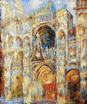 claude monet the cathedral in rouen the portal harmony in blue painting