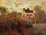 the garden at argenteuil by claude monet painting