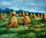 the haysheaves by claude monet painting