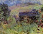 the house seen through the roses by claude monet painting