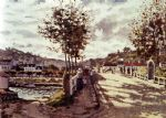 claude monet the seine at bougival art