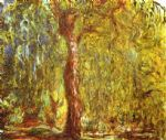 weeping willow by claude monet painting