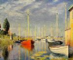 claude monet yachts at argenteuil painting