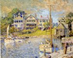 at edgartown martha s vinyard by colin campbell cooper painting