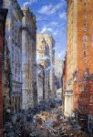 broad street canyon new york by colin campbell cooper painting