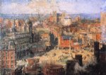 columbus circle by colin campbell cooper painting