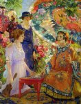 fortune teller by colin campbell cooper painting