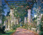 pergola at the hotel samarkand santa barbara by colin campbell cooper painting