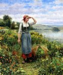 daniel ridgway knight a field of flowers painting 35831