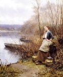 a lovely thought by daniel ridgway knight painting