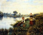 a passing conversation by daniel ridgway knight painting