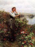 daniel ridgway knight a pensive moment painting