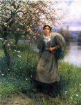 apple blossoms in normandy by daniel ridgway knight painting