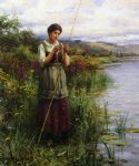 baiting the hook by daniel ridgway knight painting