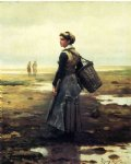 clamming by daniel ridgway knight painting
