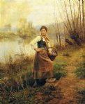country girl by daniel ridgway knight painting