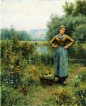 daniel ridgway knight girl in a landscape painting 35847