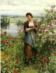 daniel ridgway knight julia among the roses painting 79909