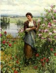 daniel ridgway knight julia among the roses painting 35854