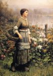 daniel ridgway knight maid among the flowers painting 80617