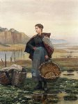 the young laundress by daniel ridgway knight painting